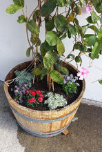 Half Wine Barrel Planter