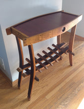 Wine Barrel Hoffman Side Table with Wine Rack