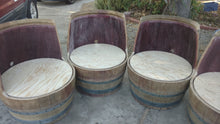 Group of Wine Barrel DIY Chair No Upholstery