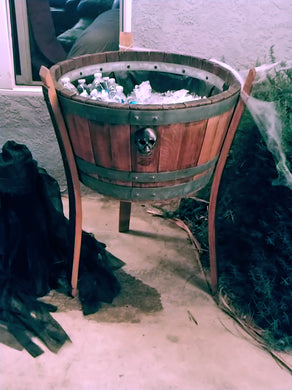 Wine Barrel Ice Cooler Lined