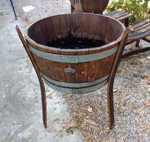 Wine Barrel Raised Planter with bottle opener