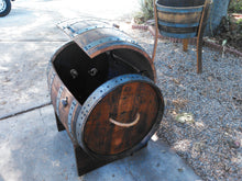 Wine Barrel Storage Chest - open