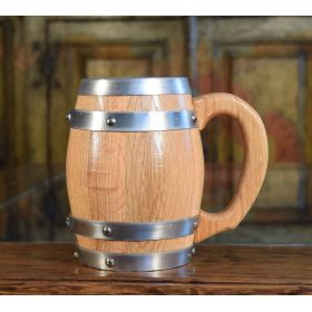Rustic Wine Barrel Mugs