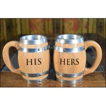 Wine Barrel Mugs - engraved