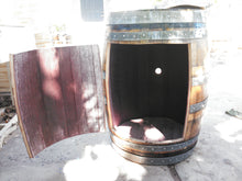 Barrel Cabinet single door open no shelf