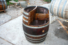 Rustic Used Wine Barrel 3-Level Planter