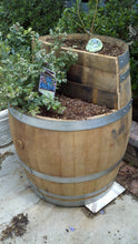 Wine Barrel - 2-level planter 1