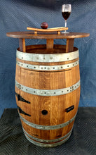"Wine Barrel Cabinet Pub Table with 30"" top"