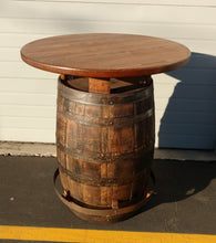 Whiskey Barrel Pub Table