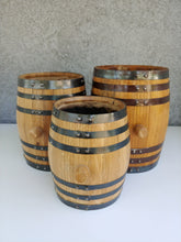 Small barrel planters various sizes
