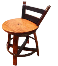 Stool with low back