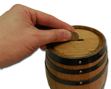 Rustic Wine Barrel Bank