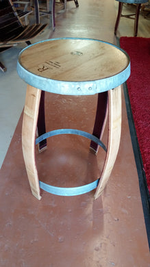 Wine Barrel Bistro Bar Table Outside Legs