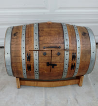 Wine Barrel Toy Chest - closed