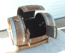 Wine Barrel Toy Chest - open