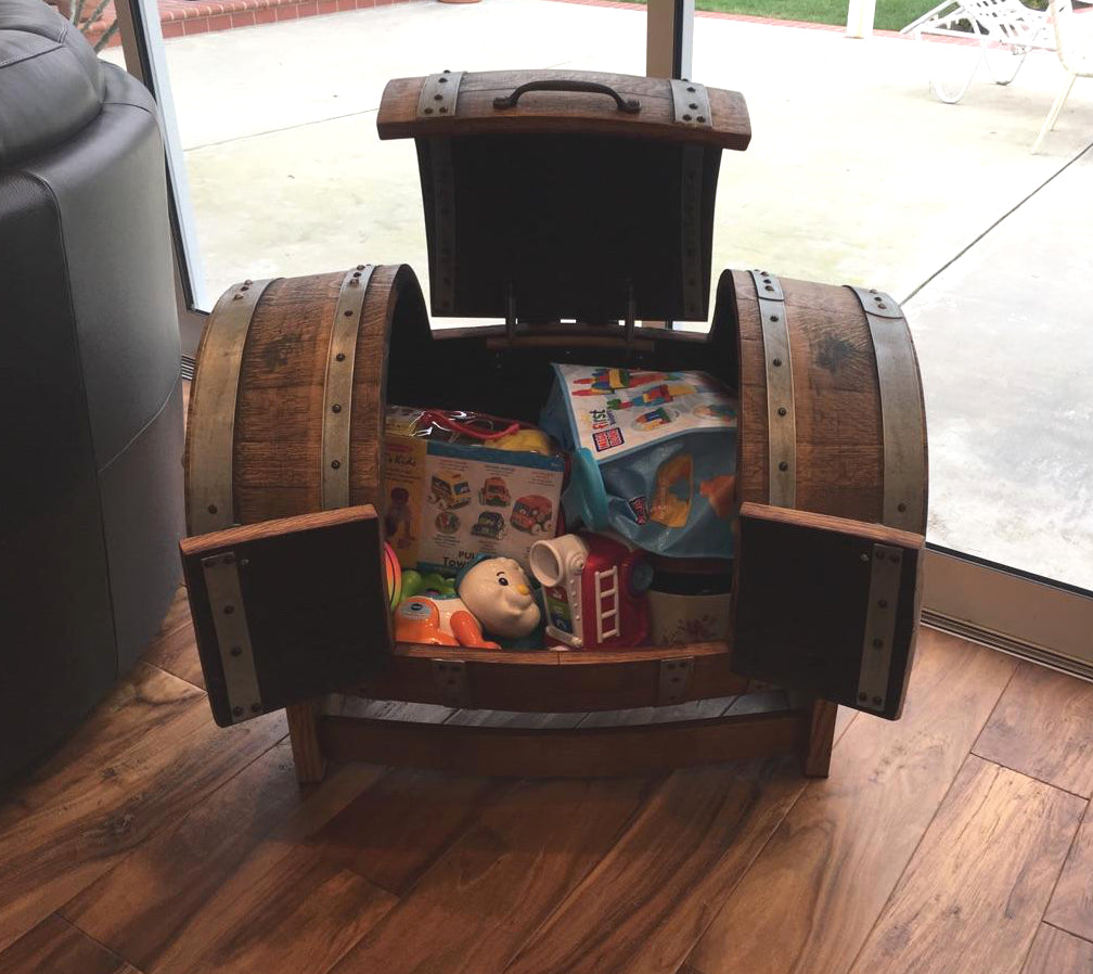 Wine Barrel Toy Chest - customer