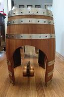 Rustic Wine Barrel Train Tunnel
