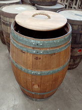 Wine Barrels - Trash Can Open Lid