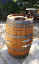 Wine Barrel Vanity Cabinet closed