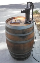 Wine Barrel Old Fashion Pump Water Fountain
