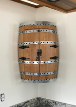 Whiskey Barrel Hanging Corner Cabinet 2