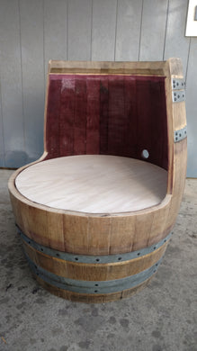 Wine Barrel DIY Chair No Upholstery