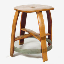 Zin Wine Barrel Bar Stool with Flat Edge Front