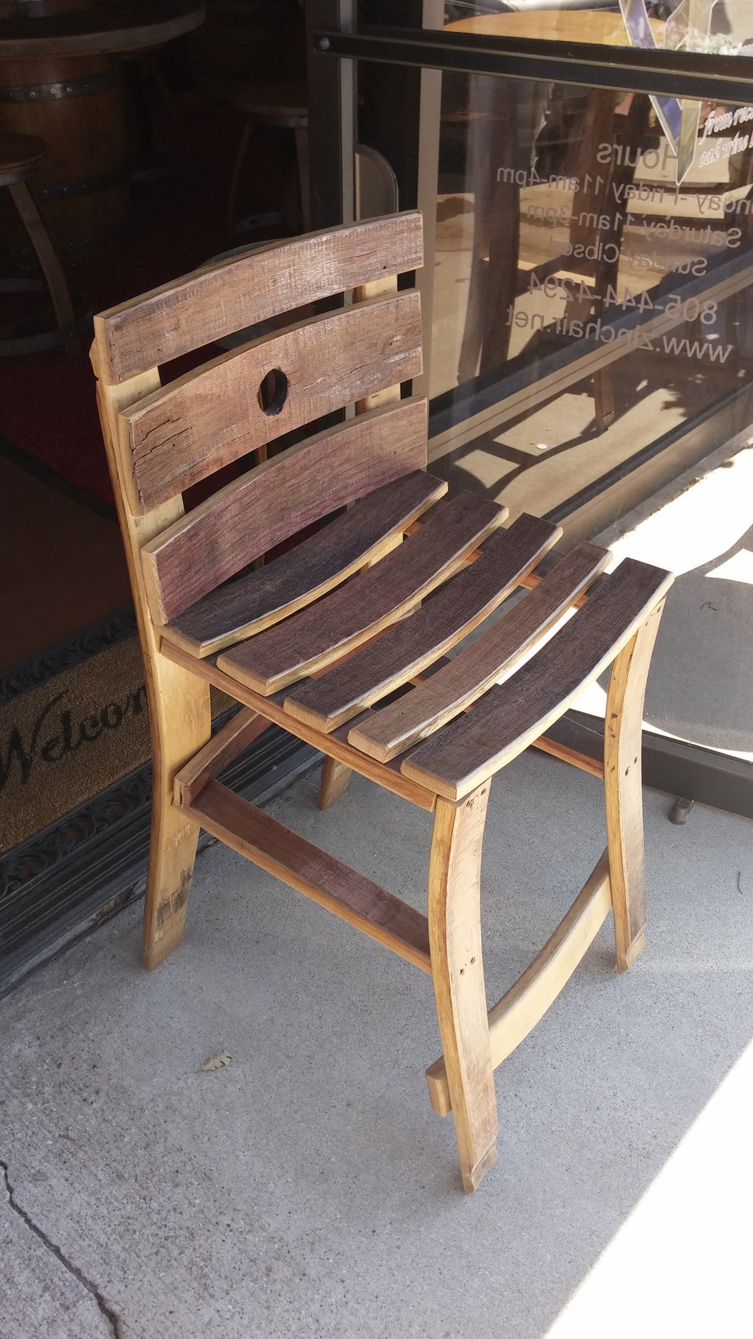 Wine Barrel Stave Chair