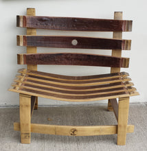 Wine Barrel Bench with Back