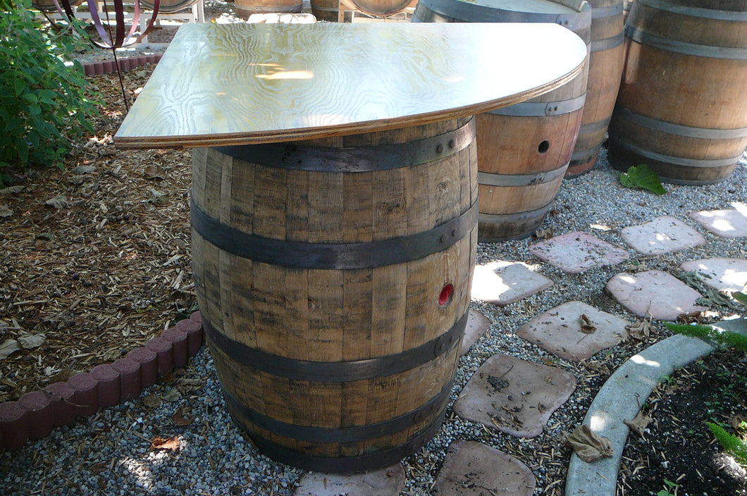 Wine Barrel Corner Table