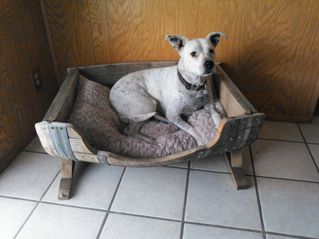 Wine Barrel Horizontal Pet Bed
