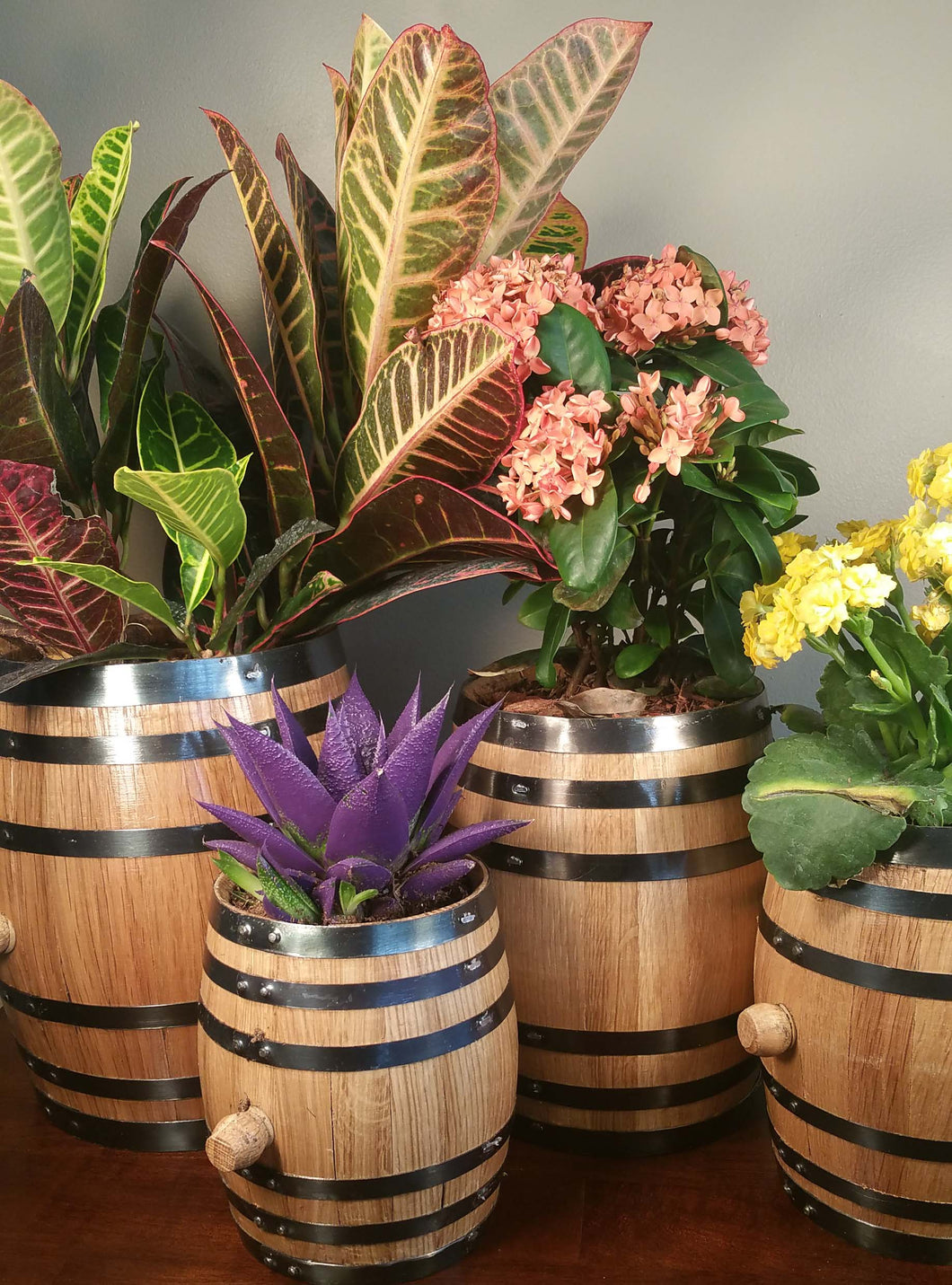Small barrel planters