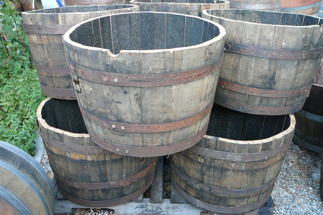 Half Whiskey Barrels