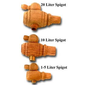 Small Barrel Wood Spigots for 1 - 20 Liters