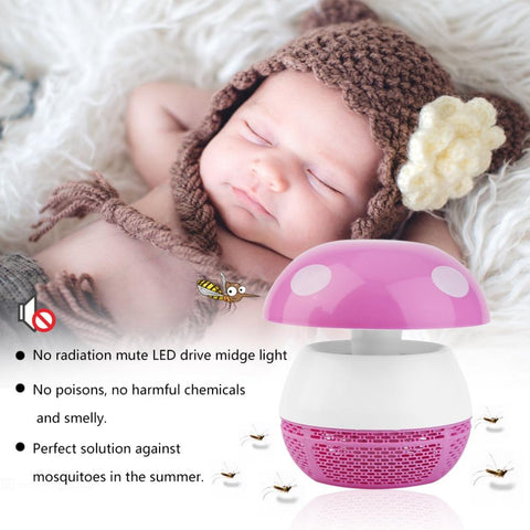 USB No Radiation LED Super Quiet Mosquito Night Lamp Killer Zapper