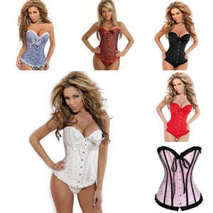Sexy Satin Corset/Bustier Top Lace Up Bodyshaper - Shapewear