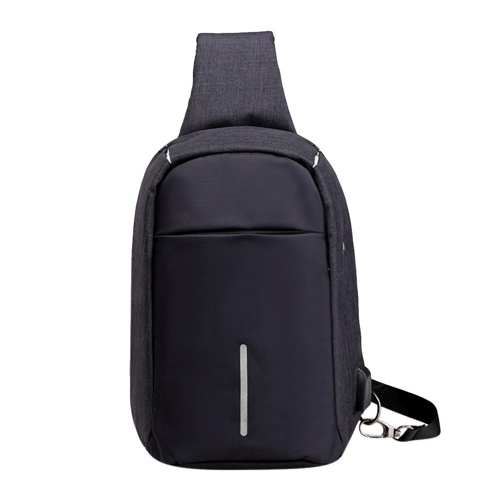 Anti-theft Men Shoulder Bag, Waterproof ,Crossbody Bag USB Charging Daypack