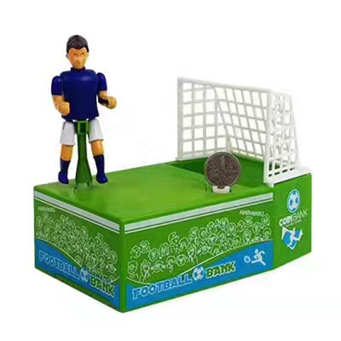 Creative soccer door frame piggy bank shot coins save money jar children savings box gift