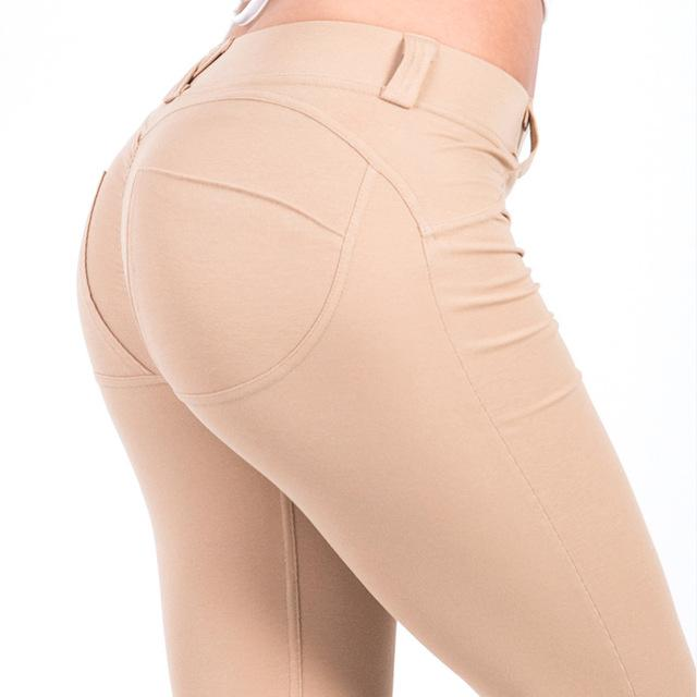 S-XL Women Low Waist Pants Push Up Sexy Hip Solid Trousers