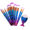 Diamond Mermaid Makeup Brush Set (11 Pcs)