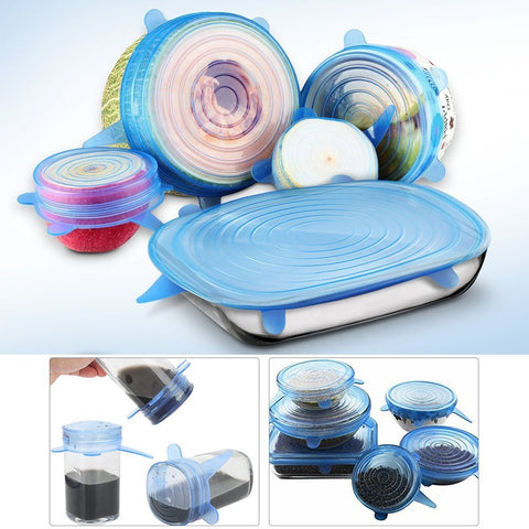 Super Stretch Food Lid - 6 Pcs