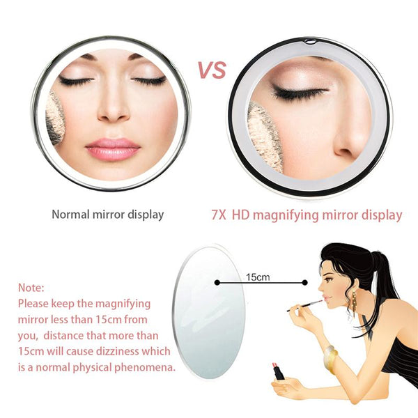 7x Magnifying LED Vanity Mirror