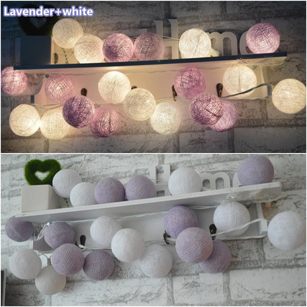 20Pcs Cotton Spherical Fairy Lights