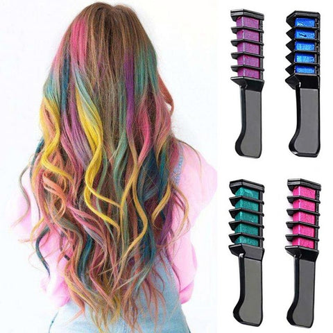 Temporary Comb-In Hair Chalk Mascara