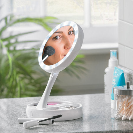 10x Magnifying Double-Sided Foldable Mirror