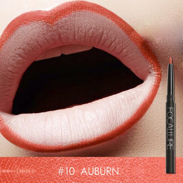 Focallure Waterproof Lip Liner - #10 Auburn
