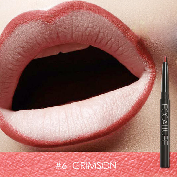 Focallure Waterproof Lip Liner - #6 Crimson