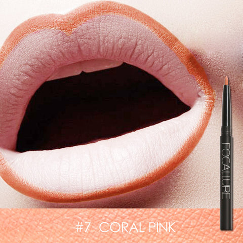Focallure Waterproof Lip Liner - #7 Coral Pink