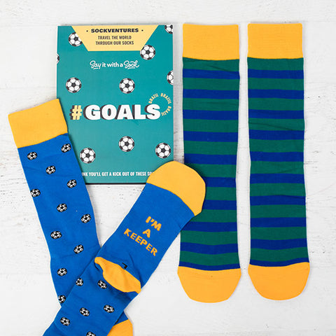 soccer ball themed socks of the month