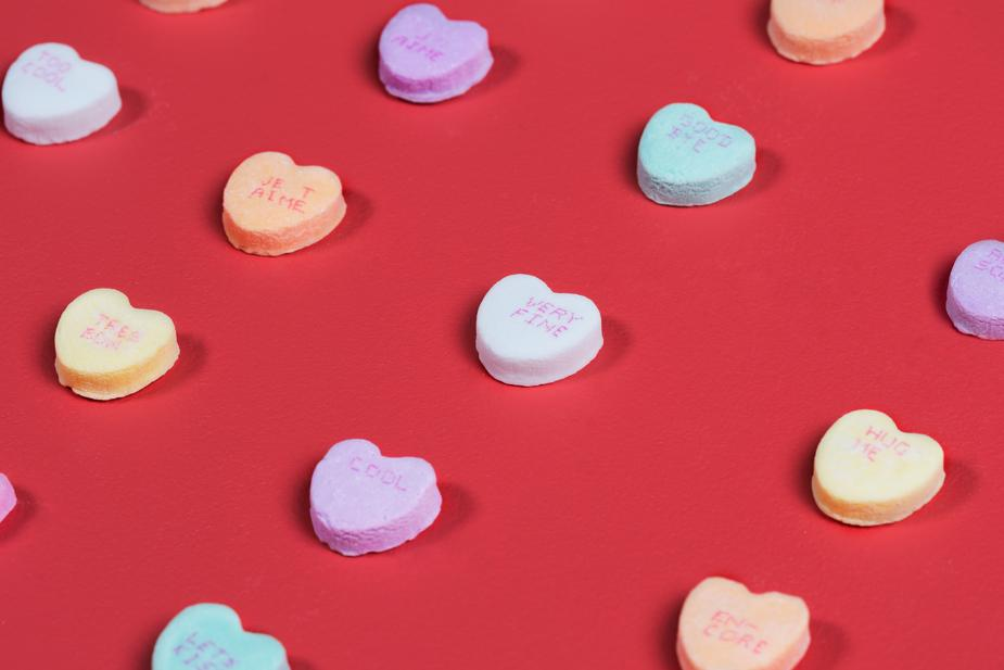 candy hearts sock subscription